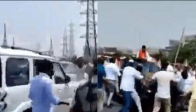 BJP कार्यकर्ताओं और किसानों के बीच गाजीपुर बॉर्डर पर झड़प, मौके पर पुलिस मौजूद