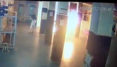 अस्पताल में मरीज की जान लेने की कोशिश, पेट्रोल छिड़कर लगाई आग, सीसीटीवी में कैद हुआ खौफनाक दृश्य