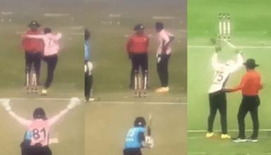 मैच के दौरान अंपायर  पर गुस्से से पागल हुआ ये खिलाड़ी, स्टंप उखाड़कर अंपायर पर चढ़ बैठा, देखें विडियो